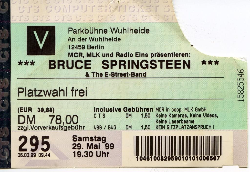 Bruce Springsteen 1999