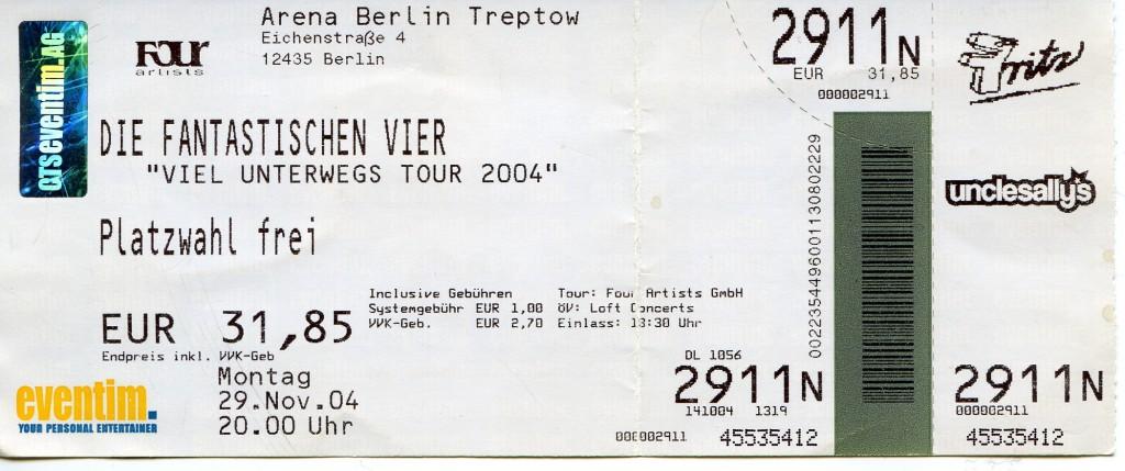Die fantastischen Vier - Viel unterwegs Tour 2004